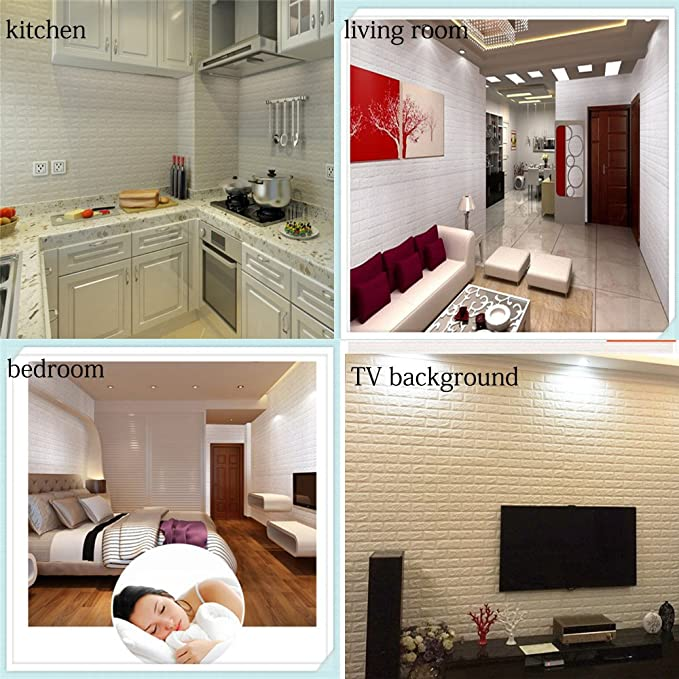 3D Brick Wall Stickers, Brick Pattern Three Dimensional Wall Wallpaper,  Family Adhesive Safety And Environmental Protection Simple Style Wall Wall  Rol For ...
