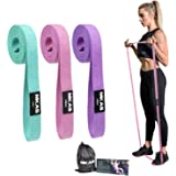 MKAS Long Resistance Bands Set Fabric Exercise Bands Resistance for Women, Cloth Loop Resistance Bands for Full Body Workout,