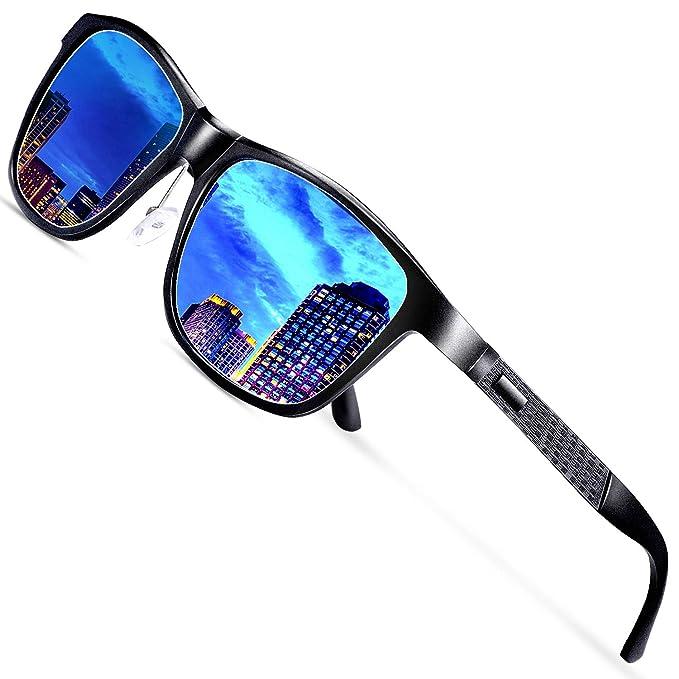FEIRDIO Gafas de sol polarizadas Wayfarer para hombre Retro Metal Frame Gafas de sol para mujer FD 2262: Amazon.es: Hogar