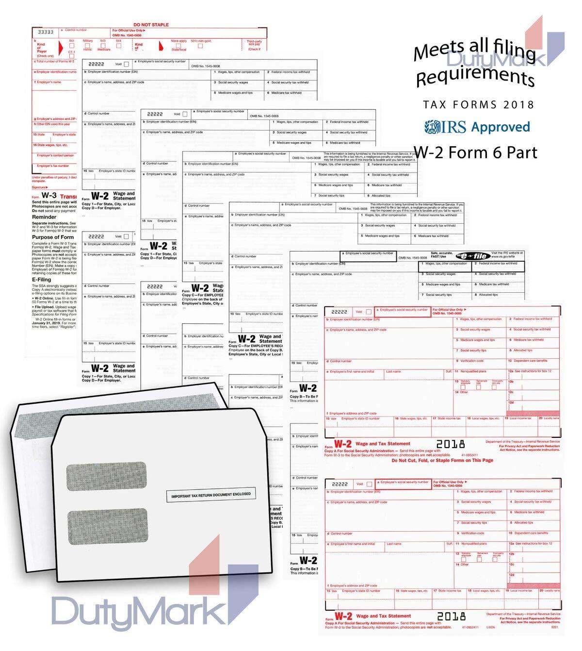 Complete tóner W-2 formularios fiscales y W-3 transmisión - Kit ...