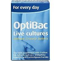 OptiBac For Every Day | Daily Natural 5 Billion CFU Multi-Strain Formula | Lactobacillus Acidophilus Rosell-52 | Vegetarian | 30 Capsules