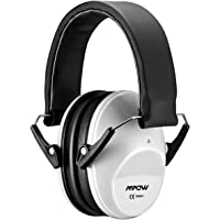 Mpow 068 Kids Ear Protection Safety Ear Muffs, NRR 25dB Noise Reduction Hearing Protection for Kids, Toddler Ear Protection for Shooting Range Hunting Season for Kids Toddlers Children (White)