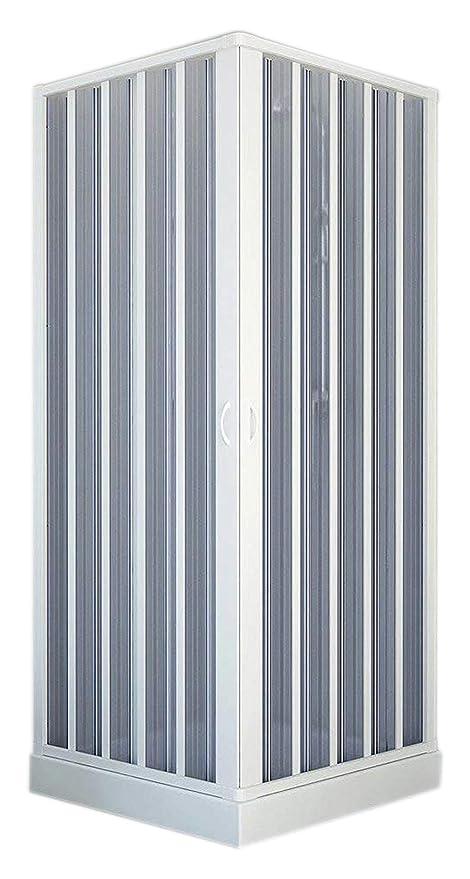 Forte BK100001 Box Doccia, Bianco, 80 x 80 x 185 h riducibile