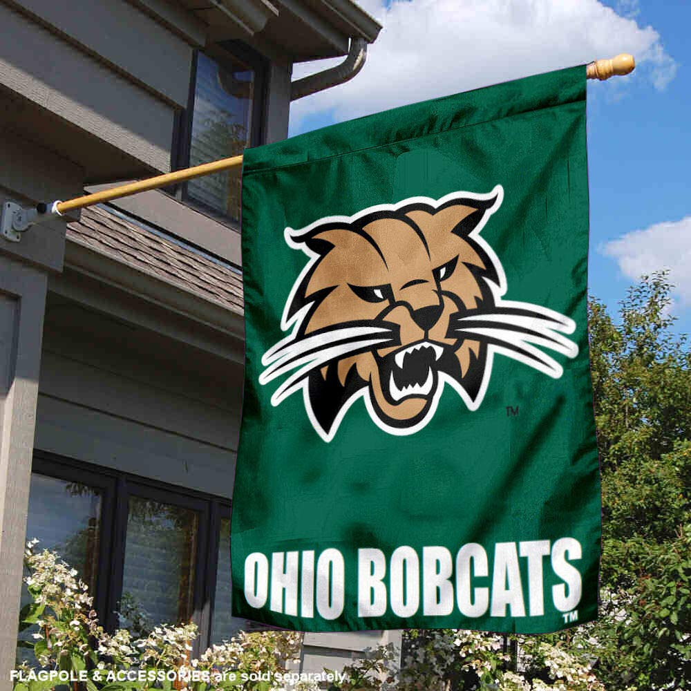 College Flags and Banners Co Ohio University Bobcats House Flag
