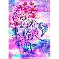 MXJSUA 5d Diamant Peinture Pleine Foret Kits pour Adultes Strass Collez-Le à Broder au Point de Croix Arts Craft pour Home Décoration Murale 30,5x 40,6cm Rose Dream Catcher
