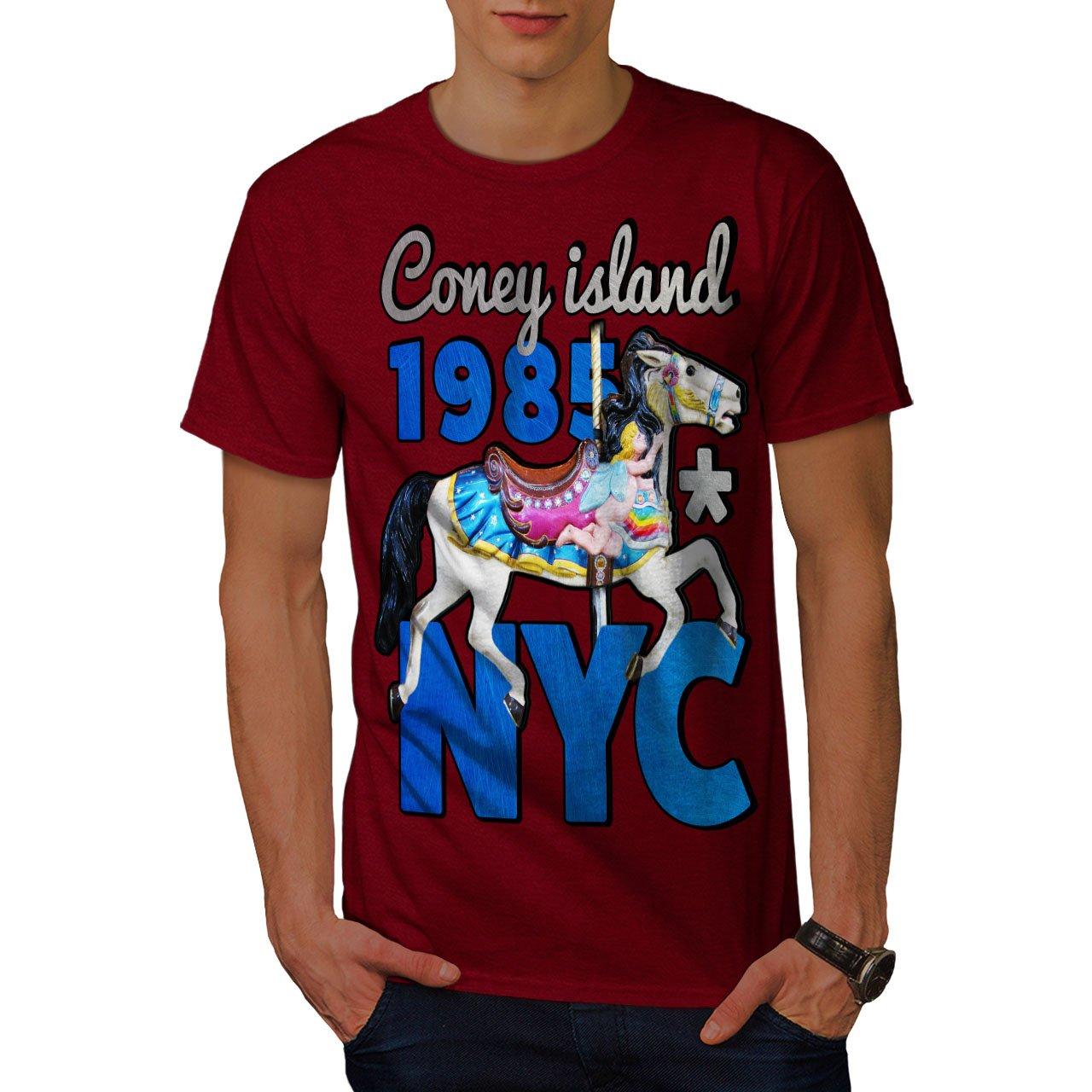 98a880466 Amazon.com: wellcoda New York City Coney Funny Mens T-Shirt, New Graphic  Design Print Tee: Clothing
