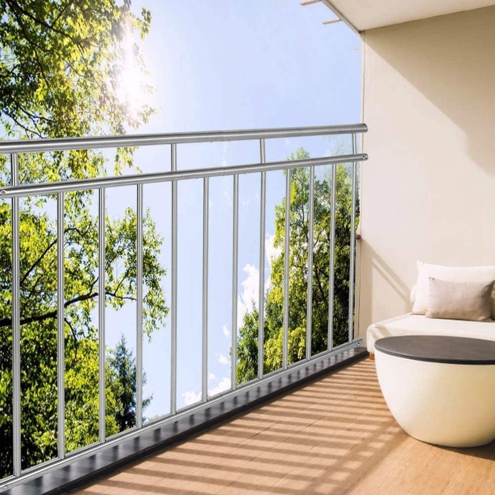 Balkon Edelstahl 90 x 120 cm Balkongel/änder Terrassengel/änder Fensterschutz