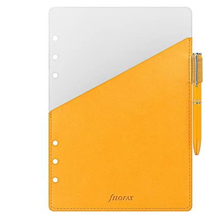 Filofax - Agenda (A5, Pen Loop, color amarillo: Amazon.es ...