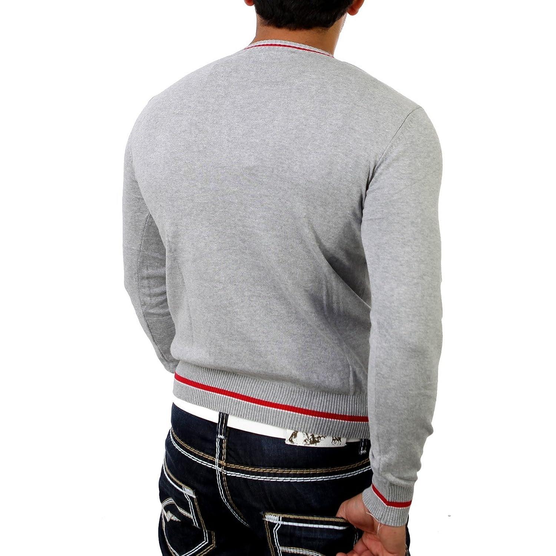 &AMP, Cipo Baxx Men's Fine Knit Jumper C-6330 Grey