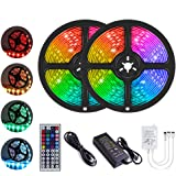 YORMICK LED Strip Lights, 32.8 Feet/10M 300LED Light Strip SMD 5050 Waterproof Flexible RGB Strip Lights with 44 Keys IR…