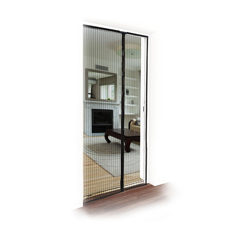 JAROLIFT Fliegengitter Magnetvorhang für Türen 110 x 220cm, schwarz ...