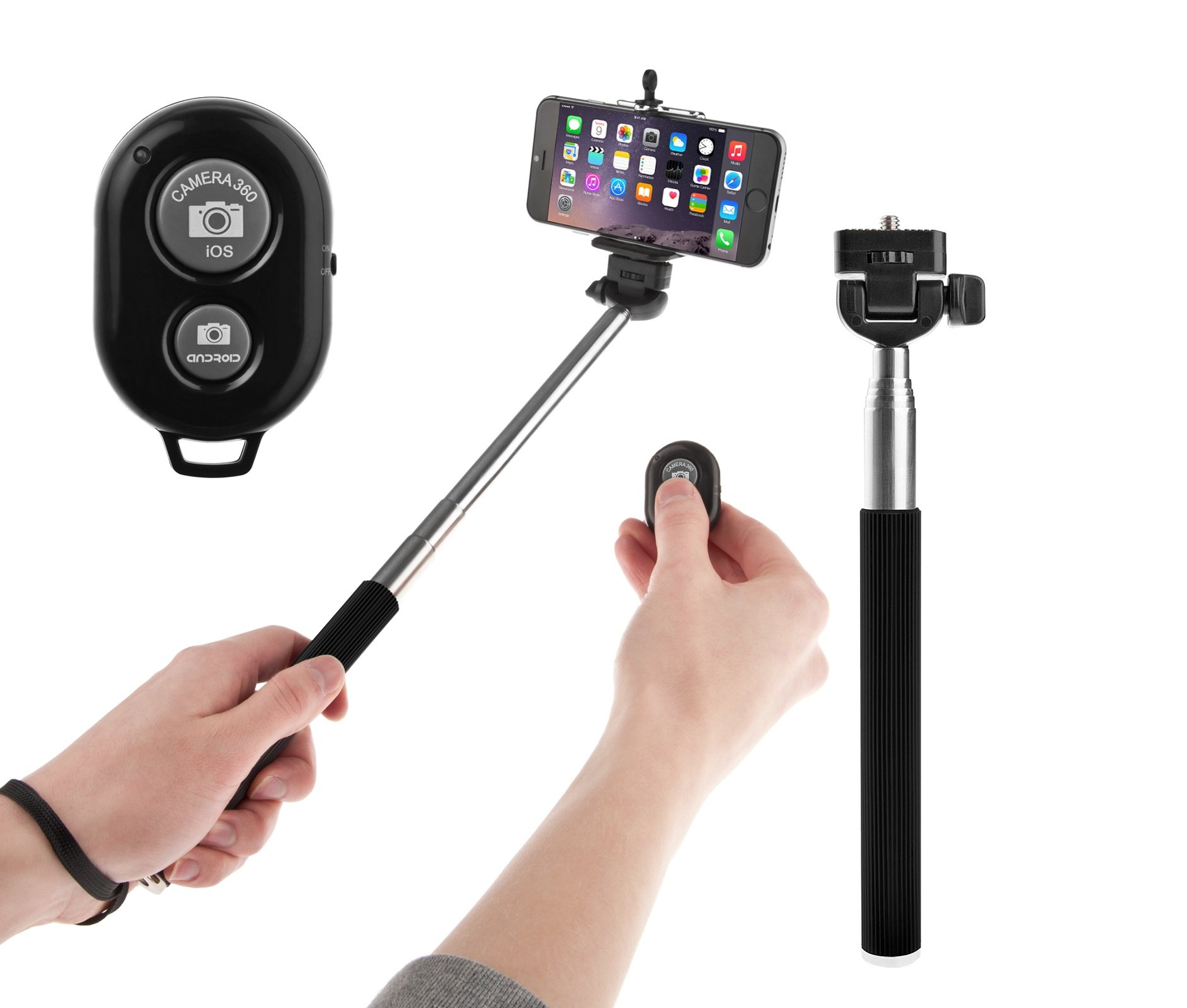 other accessories selfie stick by amonraa with adjustable phone holder and. Black Bedroom Furniture Sets. Home Design Ideas