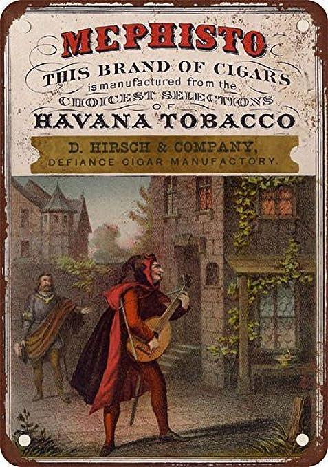 Fluse 1897 Mephisto Havana Cigars Vintage Metal Art Chic ...