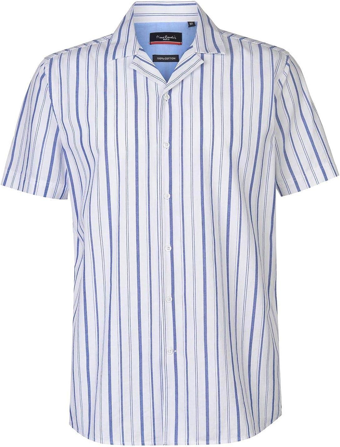 PIERRE CARDI - Camisa casual - para hombre blanco/azul M ...