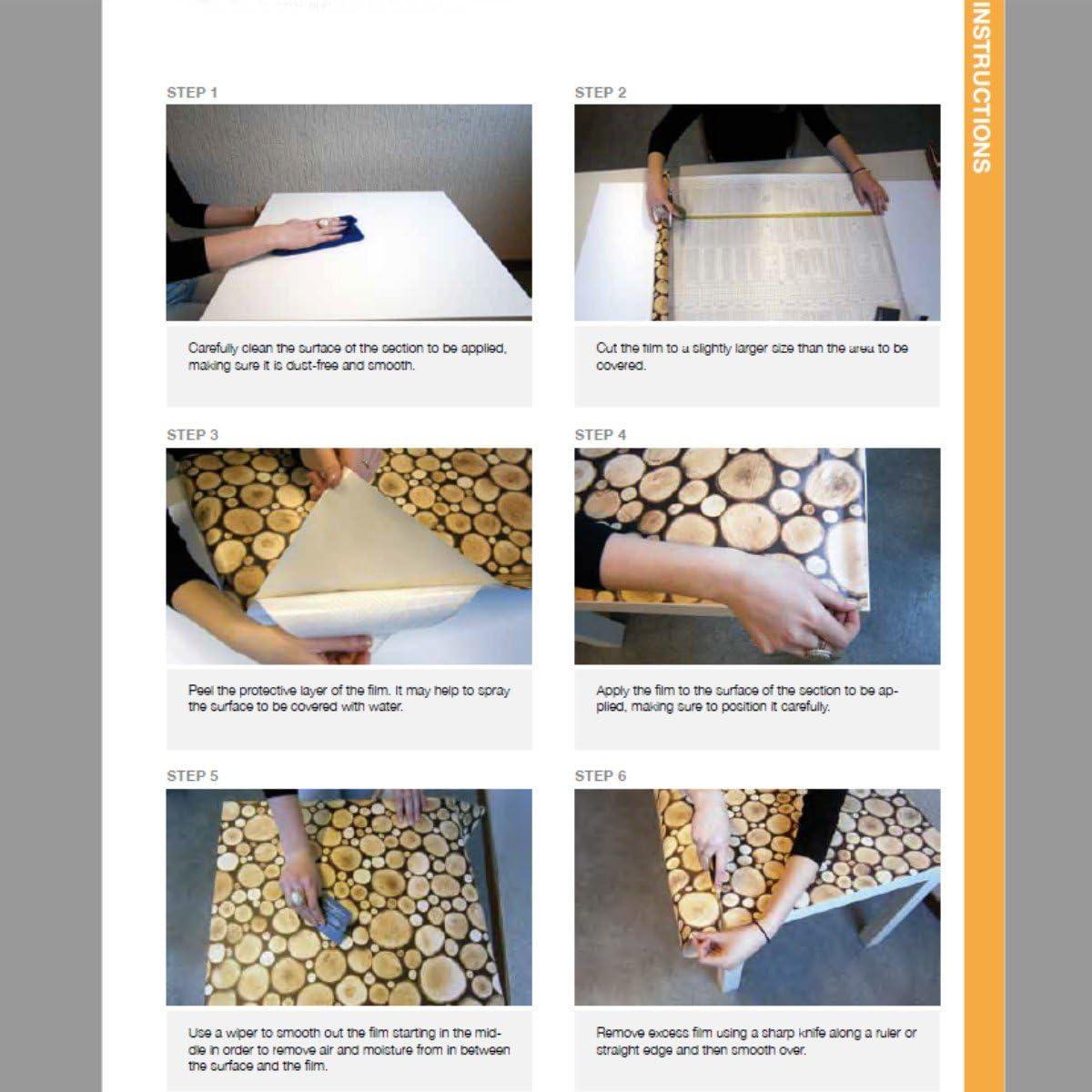 Klebefolie - Möbelfolie Edelstahl Optik - Stahl gebürstet - 17.17 cm x 1170 cm