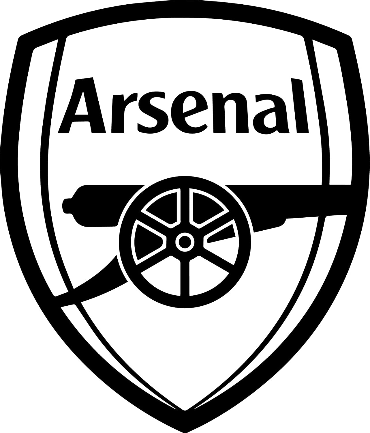(9.7cm x 11cm , Black) - FC Arsenal (BLACK) (set of 2) - silhouette stencil artwork by ANGDEST - Waterproof Vinyl Decal Stickers for Laptop Phone Helmet Car Window Bumper Mug Cup Door Wall Home Decoration B076V7PRTG 5
