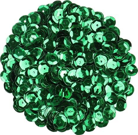 i-mondi® Lentejuelas color verde forma redonda tamaño Ø 9 mm manualidades costura bordado