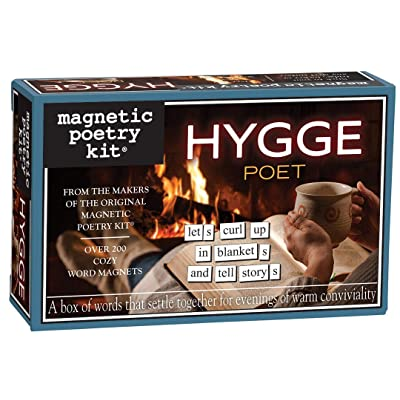 Magnetic Poetry Hygge Poet Kit – Hygge Words for Refrigerator - Write Poems and Letters on The Fridge - Made in The USA: Toys & Games