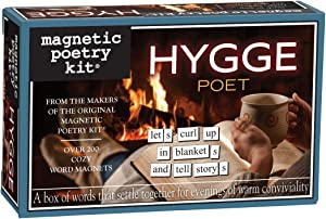 Magnetic Poetry Hygge Poet Kit – Hygge Words for Refrigerator - Write Poems and Letters on The Fridge - Made in The USA