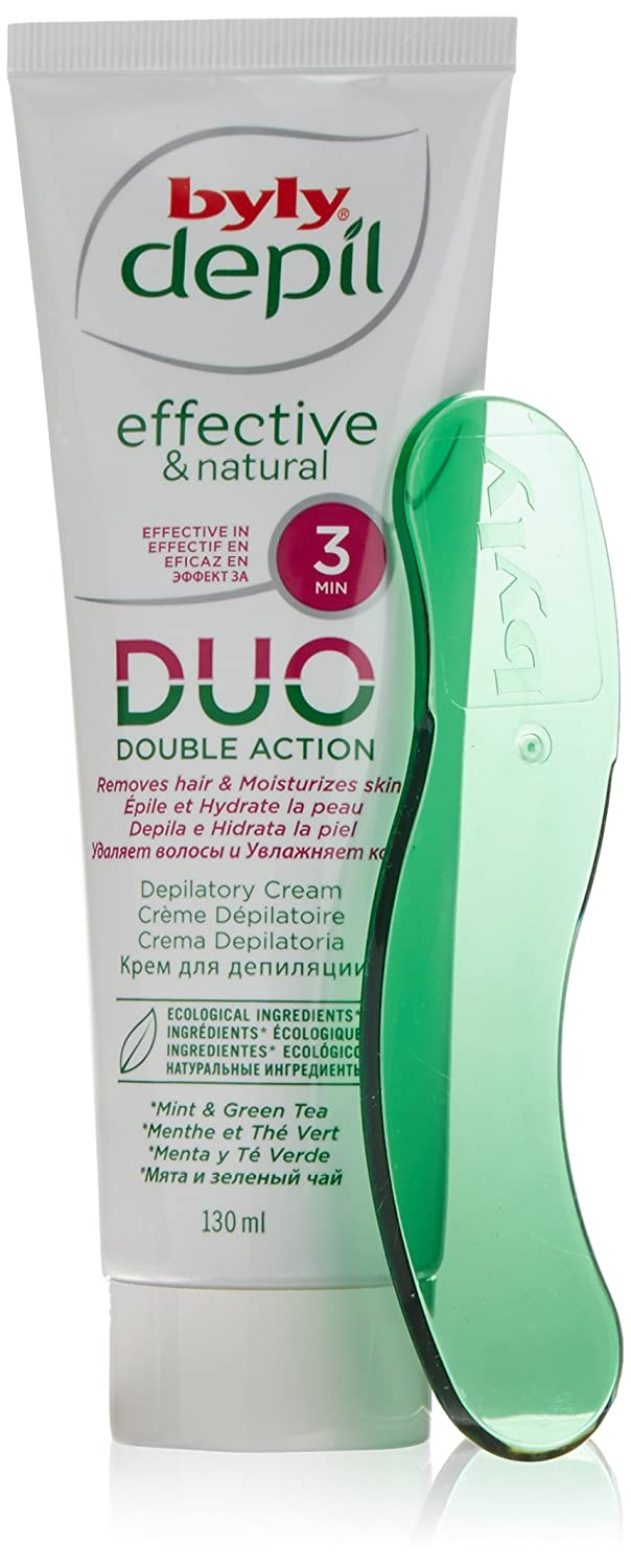 Amazon.com : byly Laboratories Spain Hair removal Mint and Green Tea Turbo Depilatory Body Cream 130ml : Beauty