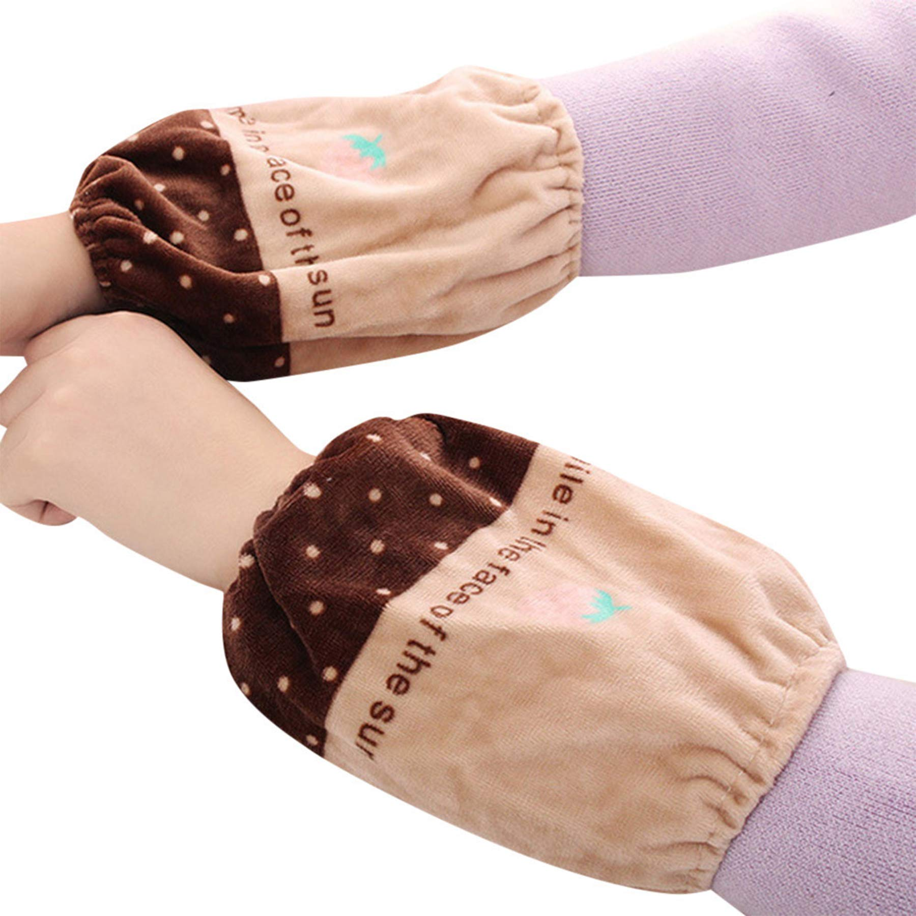 BingYELH Anti-dust Sleeve for Children Oversleeves Arm Sleeves Arm Cover Plush Oversleeves Lovely Cuff Covers