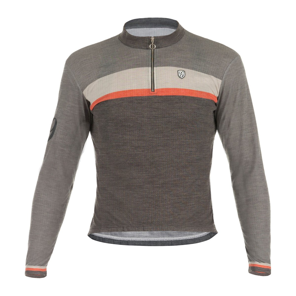 Giordana 2017 メンズ スポーツ メリノ ウールブレンド 長袖 サイクリングジャージ - GS-S6-LSWO-GSPT-BEOR-02 Small Grey / Black with Red accents B01AT7I7P8