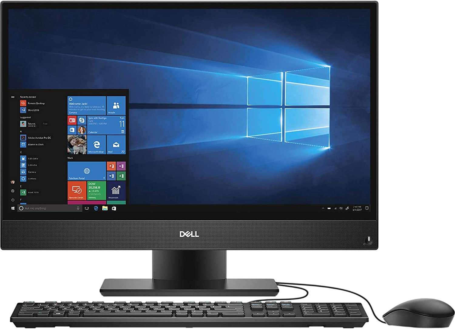 "Dell OptiPlex 5260 1920 x 1080 All-in-One Desktop Computer with Intel Core i5-8500 3 GHz Hexa-Core, 8GB RAM, 128GB SSD, 21.5"" 802.11AC + BT (GTVV0) (Renewed)"
