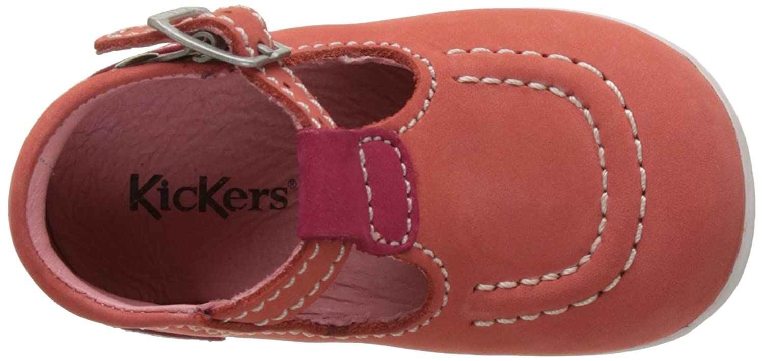 Kickers Bigfly, Sandales Bébé Fille, Beige (Beige Fuchsia Orange), 18 EU cd820ce7ab3e