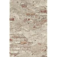 Rasch Behang 939323 vliesbehang in steen-look - 10,05 m x 53 cm (l x b) vliesbehang Rasch Collection Factory III, beige…