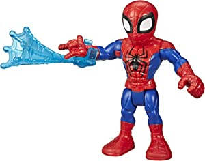 "Super Hero Adventures Playskool Heroes Marvel Collectible 5"" Spider-Man Action Figure with Web Accessory, Toys for Kids Ages 3 & Up"