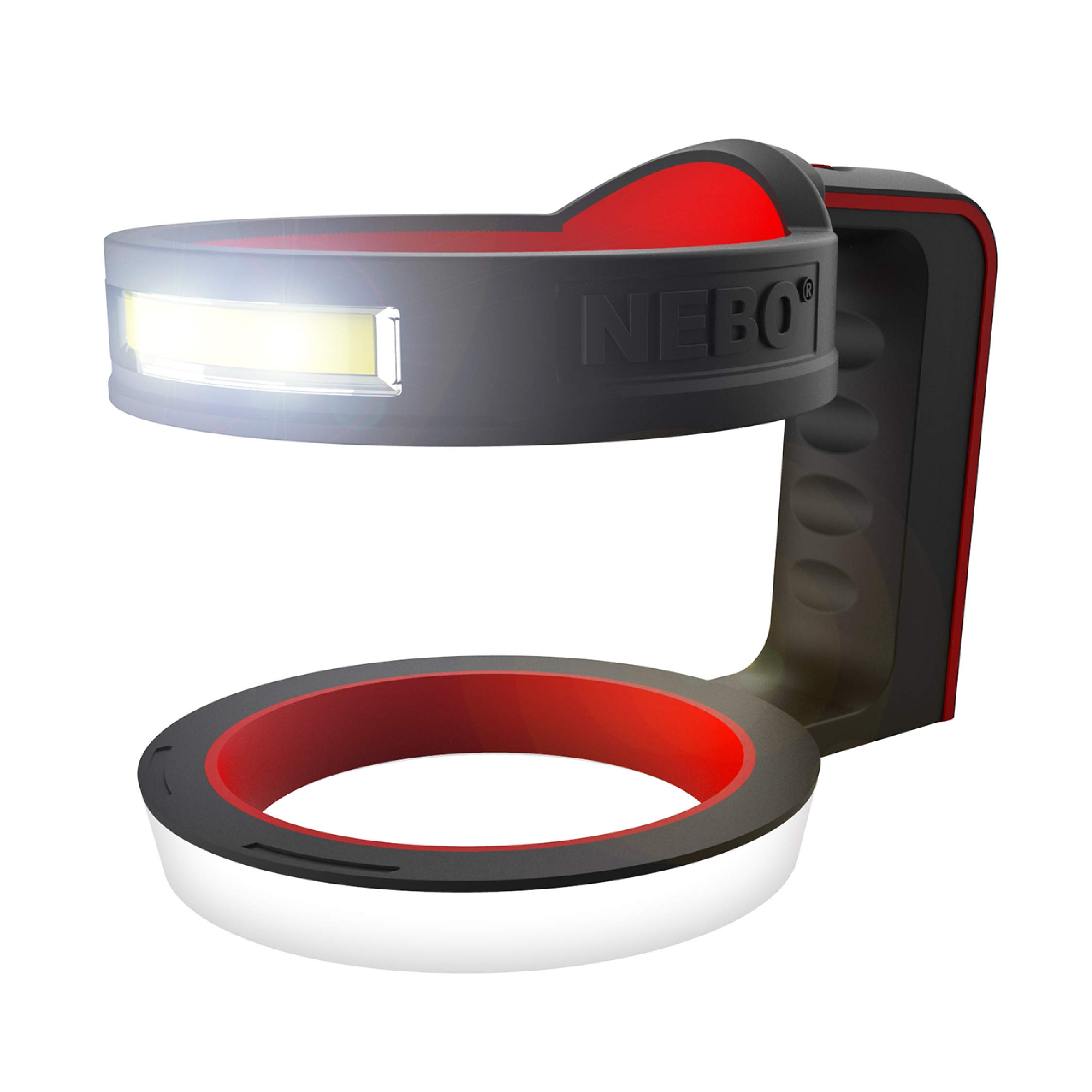 NEBO Glow Yetti Tumbler Holder: Will fit a 30oz Tumbler or a 20oz Tumbler with The Included Insert, This Cup Handle Doubles Over As A High Lumen Flashlight - 6668