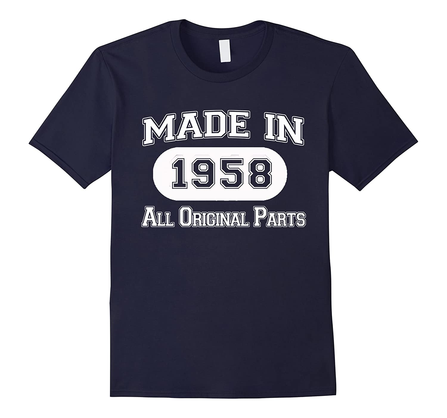 60th Birthday Gifts Made 1958 All Original Parts T-Shirt-Rose