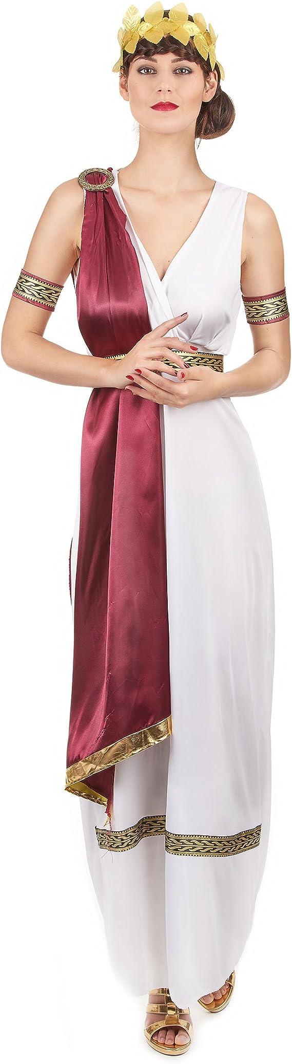 Disfraz emperatriz griega mujer Talla única: Amazon.es: Juguetes y ...