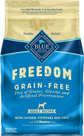 Blue Buffalo Freedom Grain Free Recipe for Dog, Chicken Recipe, 4 lb