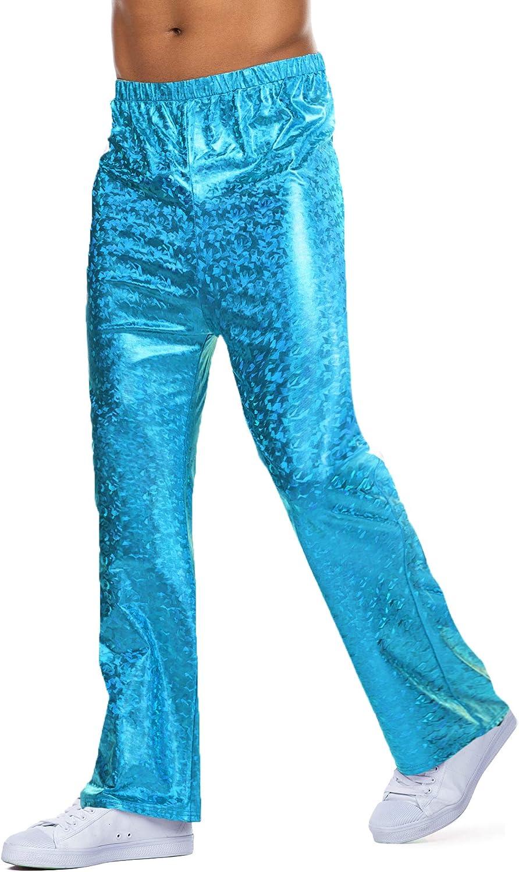 60s – 70s Mens Bell Bottom Jeans, Flares, Disco Pants COOFANDY Mens Metallic Bell Bottom Pants 70s Disco Pants Party Nightclub Flare Leggings $27.99 AT vintagedancer.com