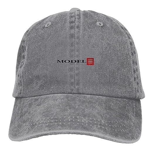 SumiDom Tesla Model 3 Red Logo Unisex Adult Baseball Cap Trucker Hat Cowboy  Hat Hip Hop 6c84b81157e