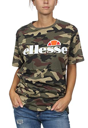 638d52a343 ellesse Heritage Albany Womens Ladies Fashion T-Shirt Tee Camo - UK ...