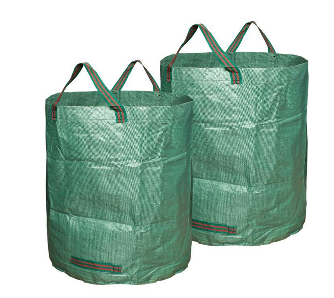 Walkingpround 2 Pack Garden Waste Bags 72 Gallon Lawn Leaf Bag Multipurpose Reusable and Collapsible Environment-Friendly Bag
