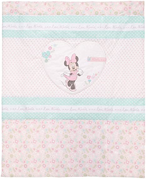 Disney Minnie Mouse – Colcha y protector cuna Set (Rosa)