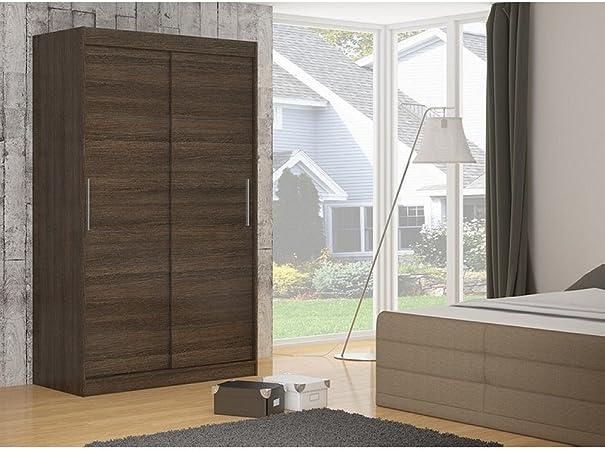 JUSTyou Denver Armario ropero con Puertas correderas Tamaño: 200x150x58 cm Color: Coco: Amazon.es: Hogar
