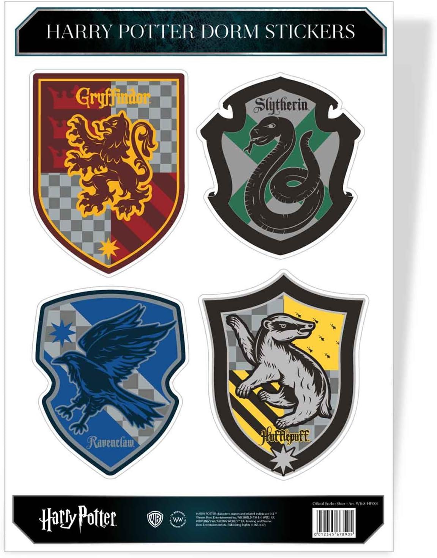 HARRY POTTER Sticker Sheet House Crest Hogwarts Official A4 Set