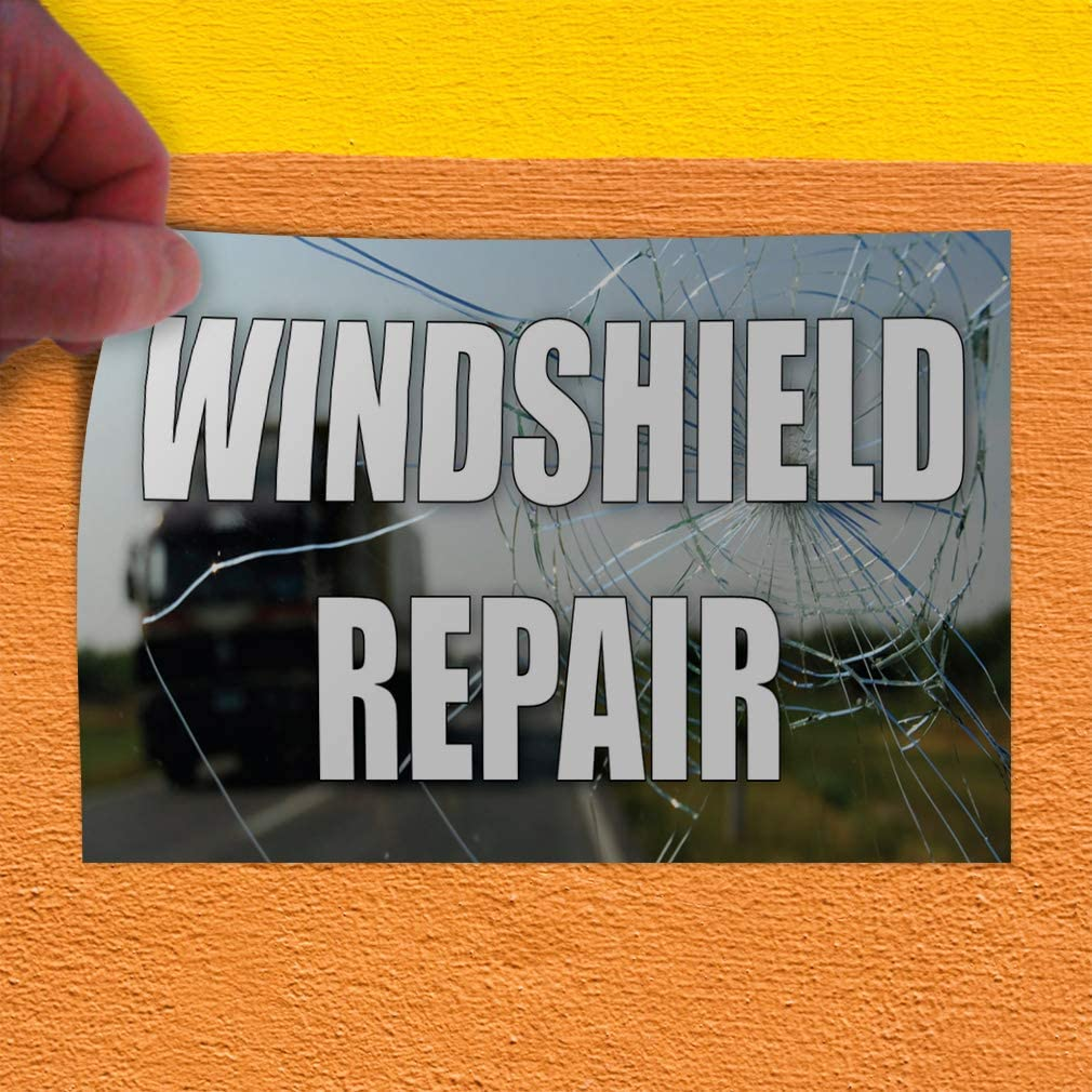 Decal Sticker Multiple Sizes Windshield Repair Auto Car Vehicle Automotive Windshield Repair Outdoor Store Sign Forest Green 54inx36in Set of 2