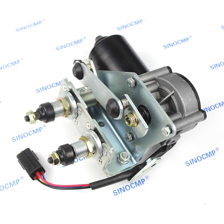 6 Month Warranty SINOCMP Wiper Motor for Volvo EC250 EC300 EC220 Excavator Parts VOE14675537 VOE 14675537 Wiper Motor