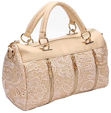 8a83f023a167 Amazon.com  ANDI ROSE Women Designer PU Leather Tote Handbags Purses  Shoulder Clutch Hobo Bag (Beige)  Shoes