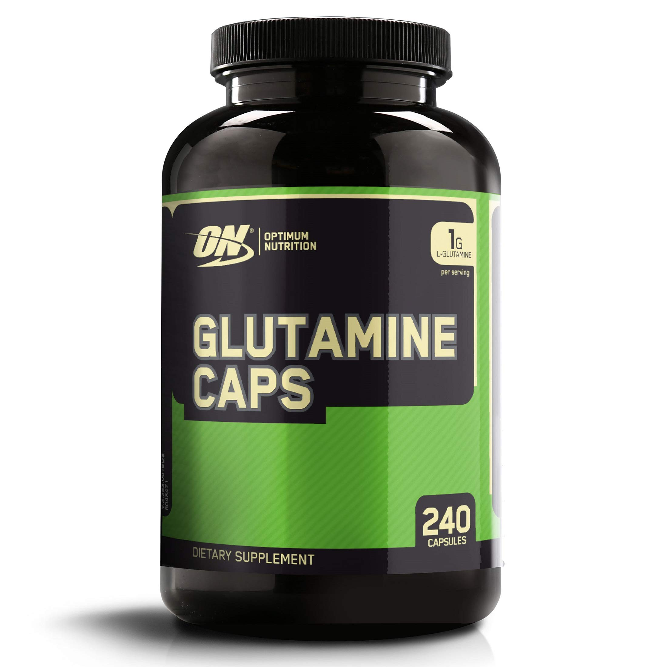 OPTIMUM NUTRITION L-Glutamine Muscle Recovery Capsules, 1000mg, 240 Count (Package May Vary) by Optimum Nutrition