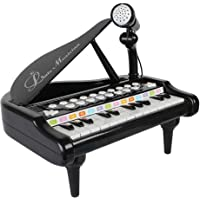 VikriDa Mini Piano Toy Keyboard for Kids Electronic Multifunctional Musical Instruments Learn to Play Piano with mic