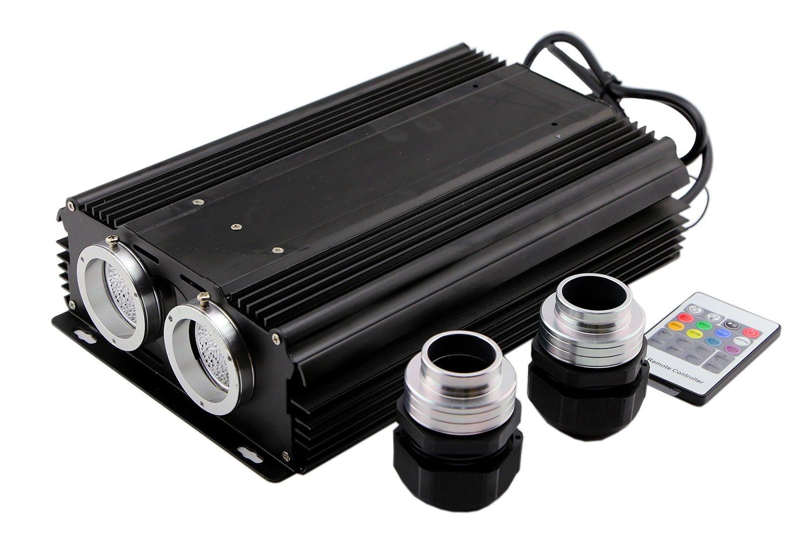 60w Fiber Optic Lamp Dual Output Cree Led Light Engine Optical Fiber Light Box Wireless Rf Remote