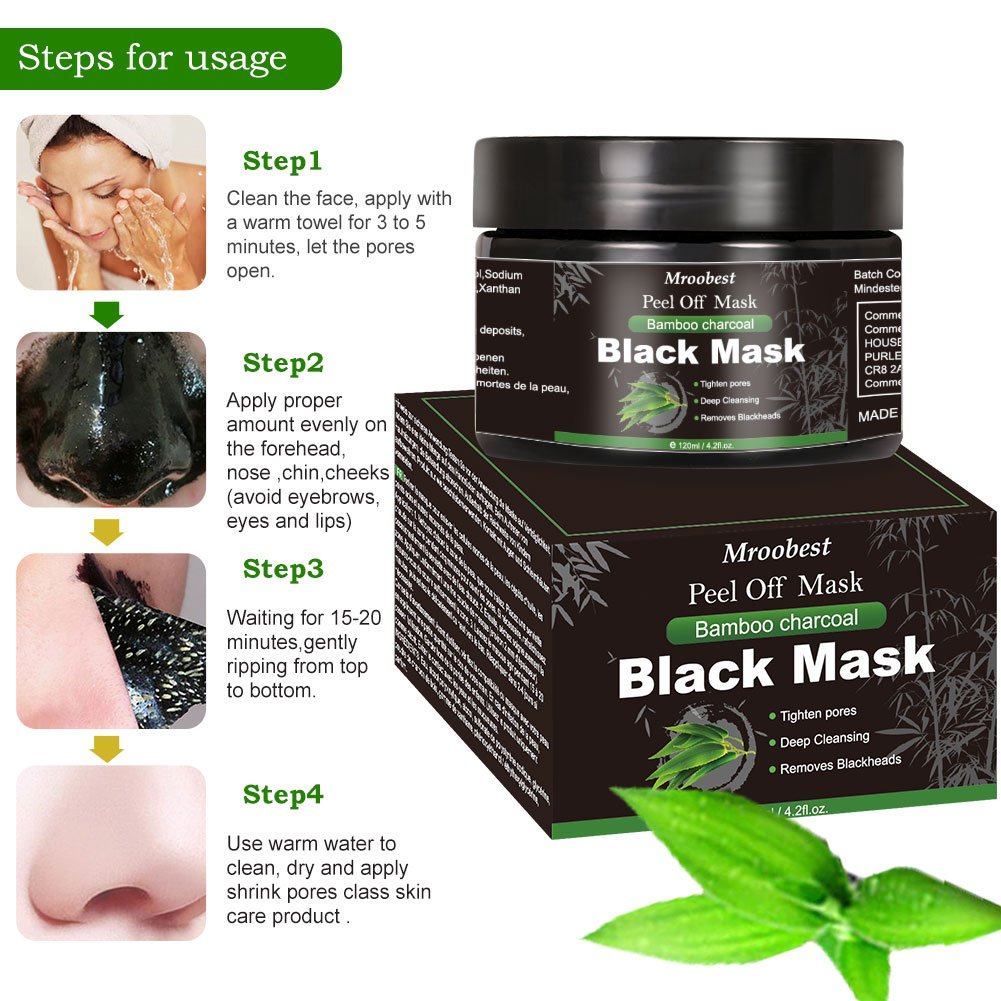 blackhead maske mitesser schwarze maske gesichtreniger porenreiniger creme ebay. Black Bedroom Furniture Sets. Home Design Ideas