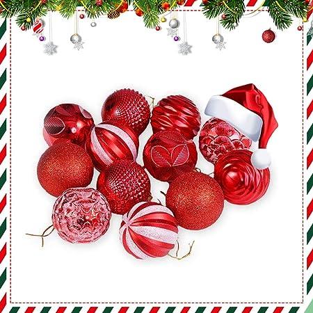 Lot de 12 n/œuds de No/ël rouges avec clochette 13 x 15 cm