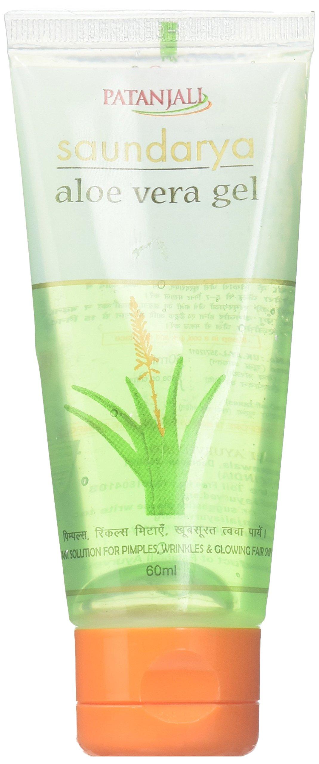 Patanjali Saundarya Aloe Vera Gel Rejuvenates & Gives You Glowing Skin (2 X 60Ml) by Patanjali